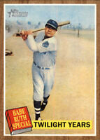 2011 Topps Heritage #141A Babe Ruth Twilight Years