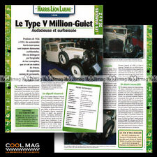 #hvf.115.06 HARRIS-LEON LAISNE TYPE V MILLION-GUIET 1928 Classic Car Fiche Auto