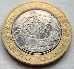 £2 Coin Hunt  2011 THE MARY ROSE £2 TWO POUND COIN VERY RARE HIGHLY COLLECTABLE