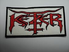 KETZER RED LOGO       EMBROIDERED PATCH