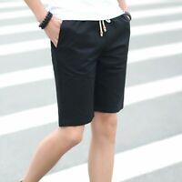 Summer Men Cotton Shorts Casual Sport Beach Wear Short Pants Plus Size SALE