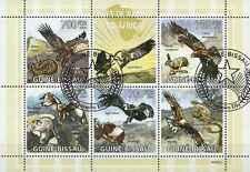 Timbres Oiseaux Rapaces Guinée Bissau 3060/4 o de 2009 lot 13674 - cote : 20 €