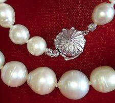 Mitsukoshi  SOUTH SEA pearl necklace white cream JAPAN 9.5-14.2mm $2500
