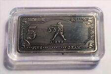 """5 Gram """"LIBRA""""  Zodiac, Star sign 5 Gram Tibetan Silver ingot in Capsule"""