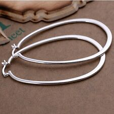 925 Sterling Silver Hoop Pierced Earrings L1
