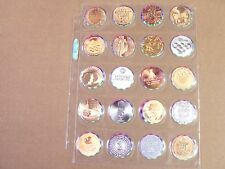 POGS/MILKCAPS OLYMPIC GAMES COLLECT A CARD 1996 COMPLETE   SET OF (20) AWESOME