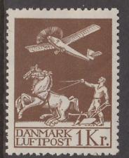 More details for denmark 1925 air 1k brown mh sg 228