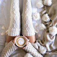 Women Girl Thigh High Over the Knee Socks Long Cotton Stockings Winter Warmers
