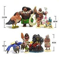 10PCS/set Disney figures Moana Princess vaiana anniversaire decoration jugete de