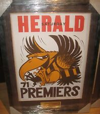 1971 HAWTHORN  PREMIERS WEG POSTER FRAMED WITH ENGRAVED PLAQUE - BRAND NEW!!!