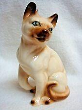 Sweet Vintage Siamese Cat Figurine - One Paw Raised