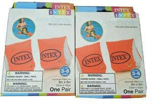 Intex 58642EP Deluxe Arm Band ,9in x 6in, Ages 3-6 lot of 2 sets