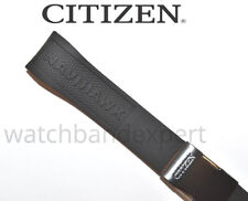 Original Citizen Navihawk U680-S087881 / JY8035-04E 23mm Black Rubber Band Strap