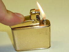COLIBRI MONOPOL AUTOMATIC LIGHTER W. 9K CARAT GOLD CASE - 1952 - ENGLAND - RARE