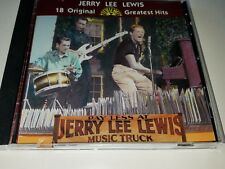 18 Original Sun Greatest Hits by Jerry Lee Lewis (1984 Rhino CD, BMG edition).