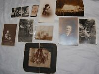Antique Victorian Portrait Photograph Lot of 10 Baby Woman Dress Sepia Old