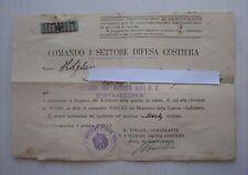 RARISSIMA CONCESSIONE DISTINTIVO GUERRA IN CORSO E AUT. APPL. STELLETTA ANNI '40
