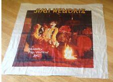 """Jimi Hendrix tapestry """"Monterey Pop Festival 1967"""" 44.5"""" x 45.5"""" made in 1983"""