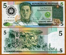 Philippines, 5 Piso, 1986, Commemorative, Pick 175 (175b), UNC