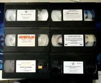 LOTTO N° 6 VIDEOCASSETTE VHS - CARTONI ANIMATI