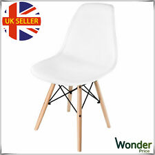 Eiffel Dining Chair Solid Wooden Legs Office Lounge Retro Vintage Chairs White