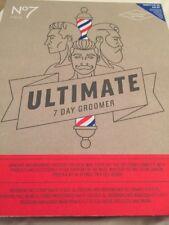No7 Men Ultimate 7 Day Groomer Brush Towel Razor New Gift Set