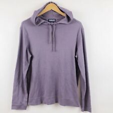 Lands End Womens Hoodie Medium 10 12 Purple Pullover Casual Drawstring