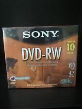 sony dvd rw discs Pack Of 10