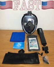 Wstoo Snorkeling Packages Full Face Mask,180 Panoramic View Mask-Anti-Fog, S/M