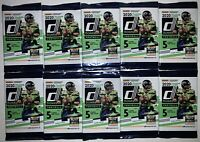 2020 Donruss Football Card Packs 10 Pack Lot Burrow Herbert Yellow Parallel RC