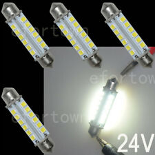 "4x 44MM 24-2835-SMD LED Bulbs Interior Dome Light Pure White, 1.73"" Festoon 24V"