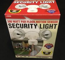 Designers Edge 2 Light 300 Watts Par Flood Motion Sensor Security Light L-995WH