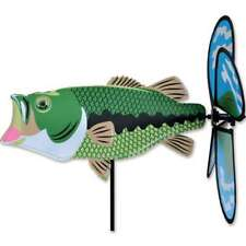 Bass Fish Wind Spinner Petite 14.5""