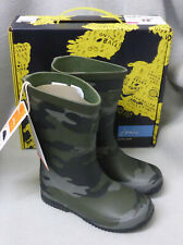 Joules Roll Up Khaki Camo Green Welly Wellingtons Wellies Boys Kid Child Size 10