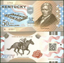 ACC STATE NOTE SERIES: KENTUCKY POLYMER FANTASY ART BILL DANIEL BOONE!