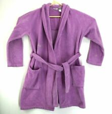 Adonna Women's medium Bright Purple Lilac Soft Fuzzy Sleepwear Robe with Belt