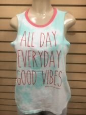 SPIRITUAL GANGSTER WOMEN  'ALL DAY EVERY DAY GOOD VIBES' TANK tie day top t new
