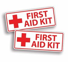 WHITE First Aid Kit Stickers Decal Camp Boat Kayak SUP Camp Kid Family Field DIY