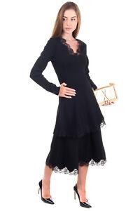 RRP €1815 STELLA MCCARTNEY Tiered Dress Size 40 / XS Stretch Knit Lace Inserts