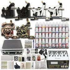 Professional Complete Tattoo Kit 2 Machine Guns Power Supply 40 Inks Needle DC04