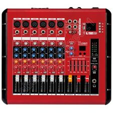 Red Wireless Bluetooth 1600W Power 6 Channel USB DSP Audio Mixer Mixing Console