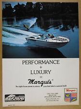 1978 Marquis Power Ski Boat MerCruiser I/O water skiing photo vintage print Ad