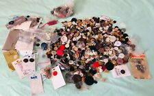 Vintage Buttons Huge Lot Assorted Sewing Buttons Carded & Loose Unsearched