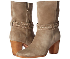 New in Box Frye Womens Naomi Pickstitch Mid Boots Ash Suede Size 9 MSRP $ 378