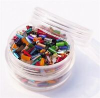 Czech Glass Bugle Bead Sizes #2 in a Tub ~ Assorted Multi Mix Colors & Finishes