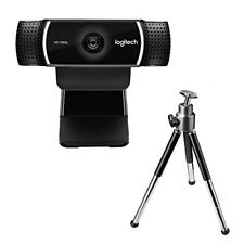 Logitech C922 Pro Stream Full HD Webcam with Mic and Adjustable Tripod - Black