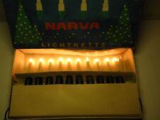 Alte Narva Lichterkette 10tlg DDR Christbaumbeleuchtung Kerzen Weihnachtsbaum 5