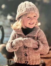 84iCF - Knitting pattern - Children's Chunky Cardigan / Jacket Hat & Mitts Child