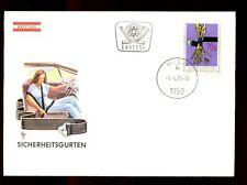 Austria 1975 Car safety Belt campaign FDC #C3057