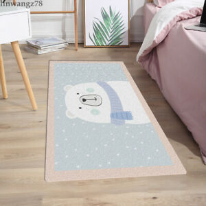Cute Animals Area Rug Door Mats Living Room Bedroom Flannel Non-Slip Hallway Mat